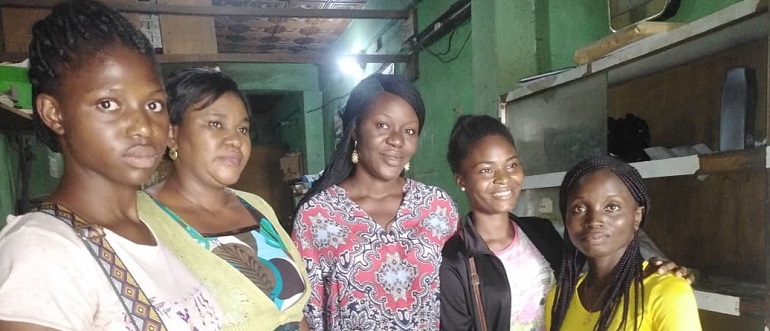 girls who attend the training in Nigeria